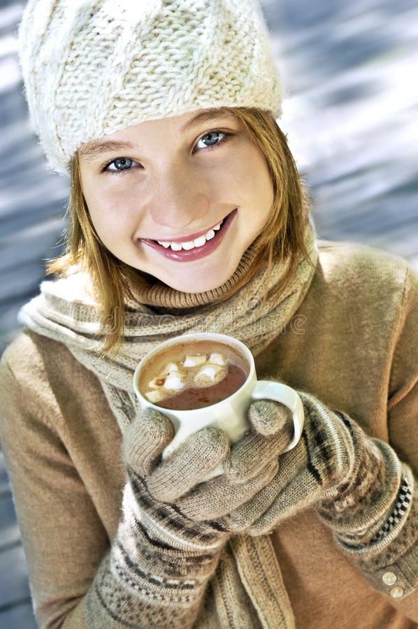 zima dziewczyny fotografia royalty free