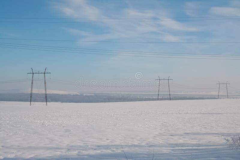 Zima field fotografia stock