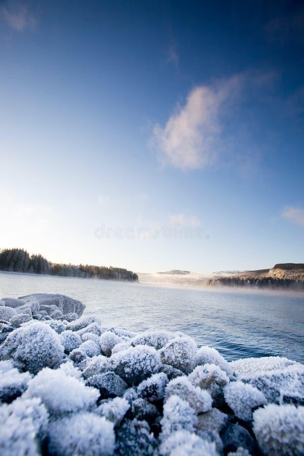 zima fiordu fotografia royalty free
