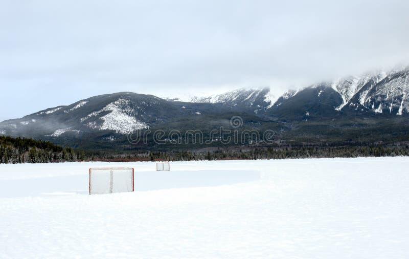 Zima hokej zdjęcie royalty free