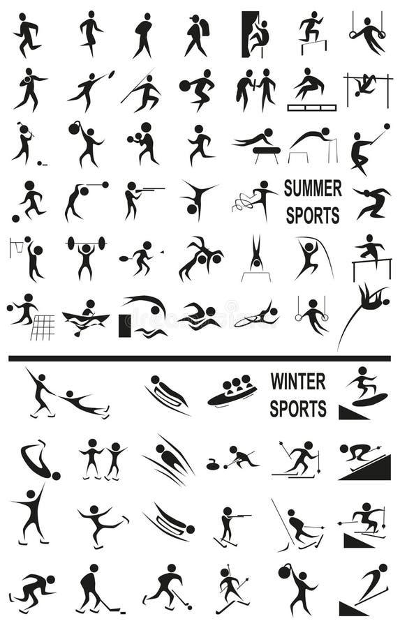 Zima i lato bawimy się na bielu ilustracja wektor