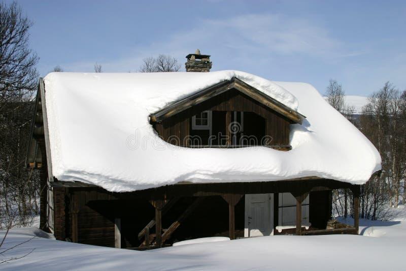 zima kabiny zdjęcie stock