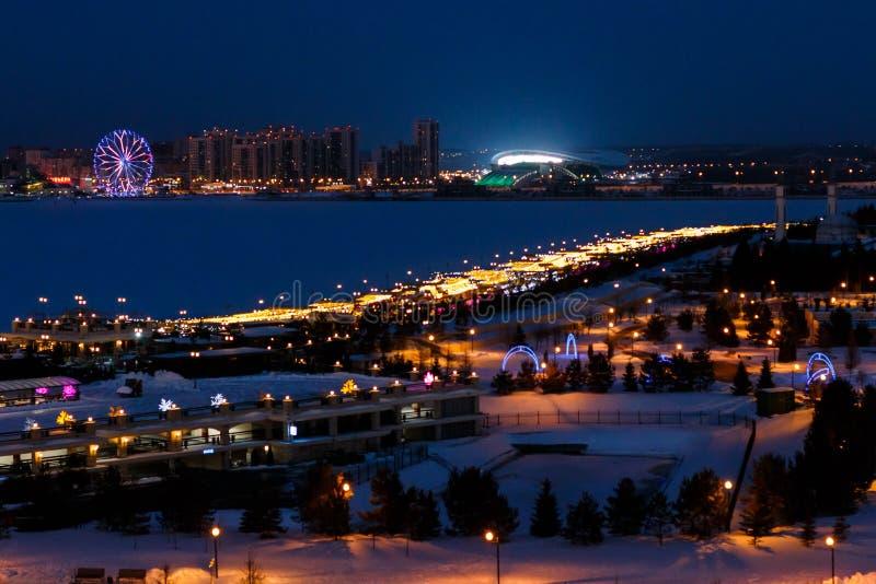 Zima Kazan Kremlin obrazy royalty free