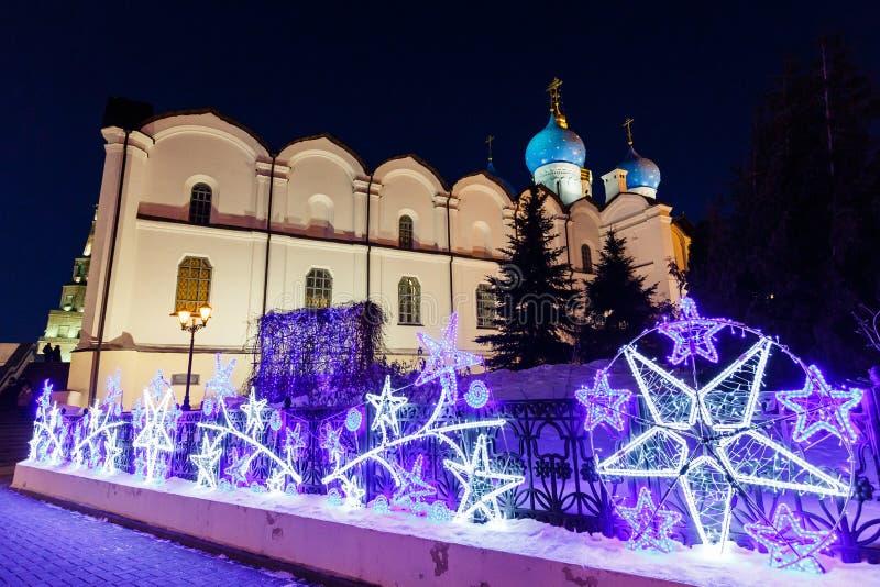 Zima Kazan Kremlin zdjęcia stock