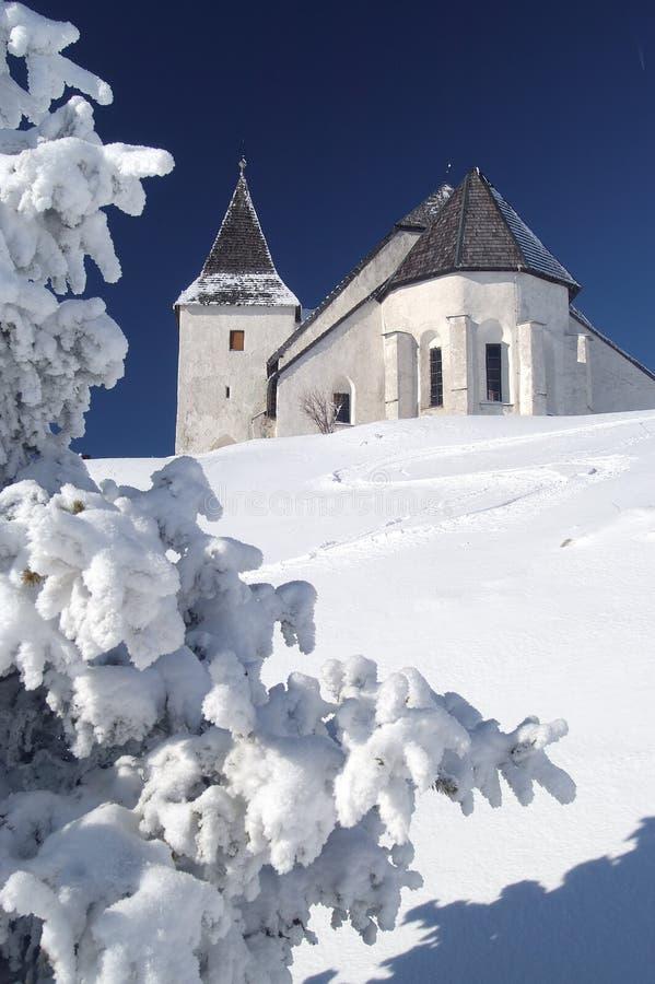 zima kościelna fotografia stock