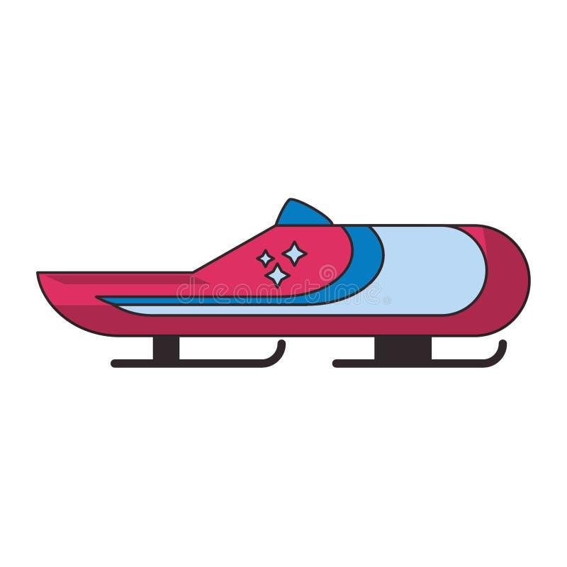 Zima kra?cowego sporta bobsledding samoch?d ilustracja wektor