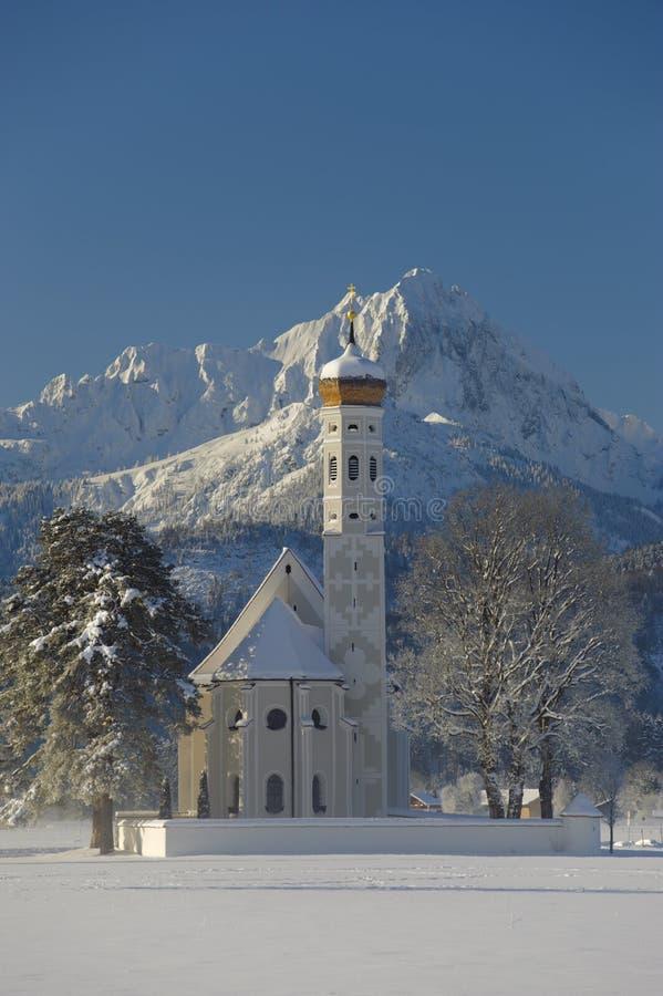Zima krajobraz w bavaria zdjęcie stock