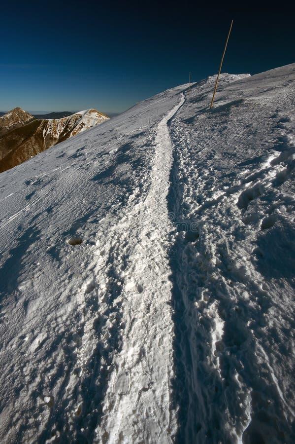 Zima krajobraz w górach Mala Fatra zdjęcie stock
