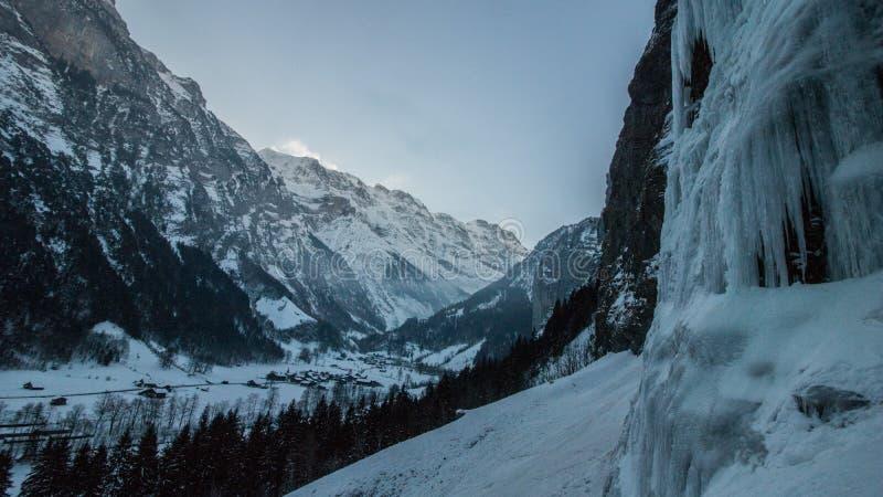 Zima krajobraz w Szwajcaria fotografia stock