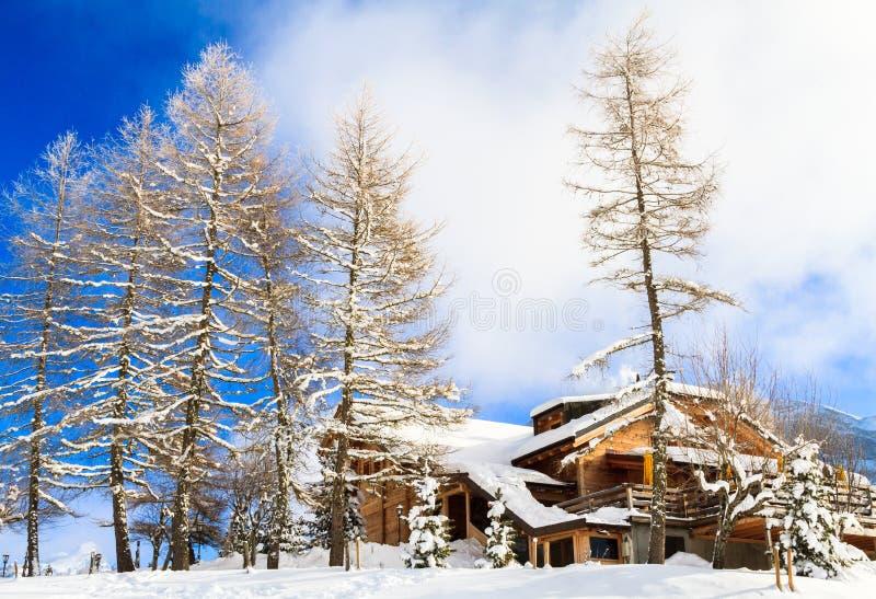 Zima krajobraz w Szwajcaria zdjęcie stock