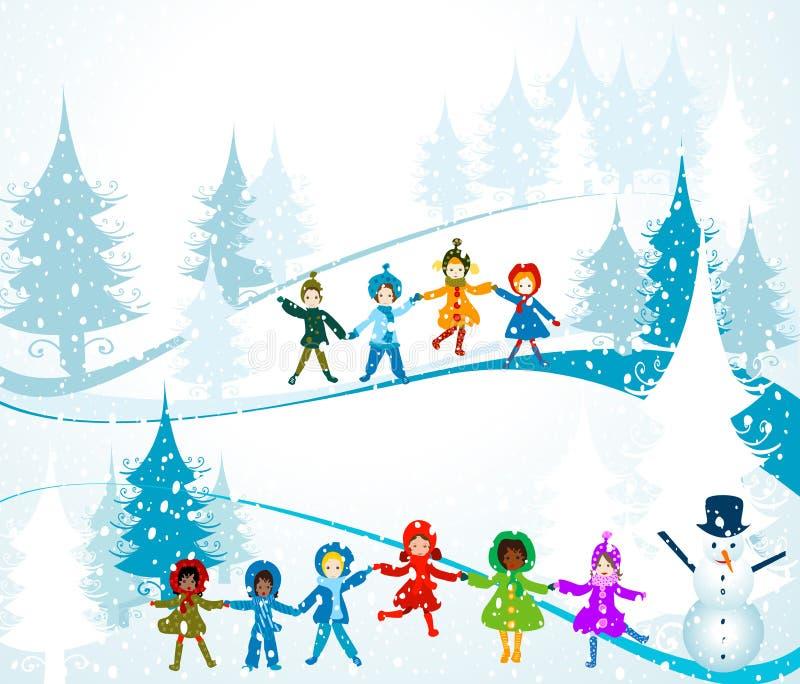 zima krajobrazowa ilustracja wektor
