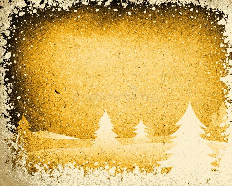 zima krajobrazowa royalty ilustracja