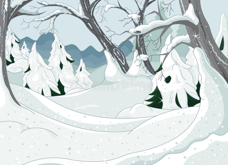 Zima Las ilustracja wektor