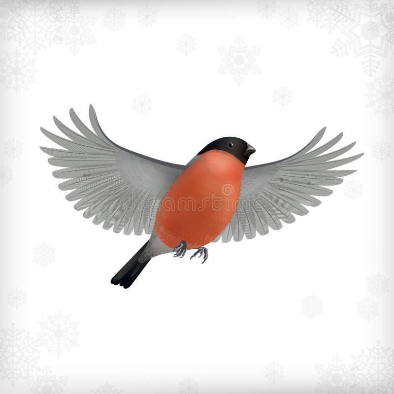 Zima Latającego ptaka Bożenarodzeniowy gil ilustracji