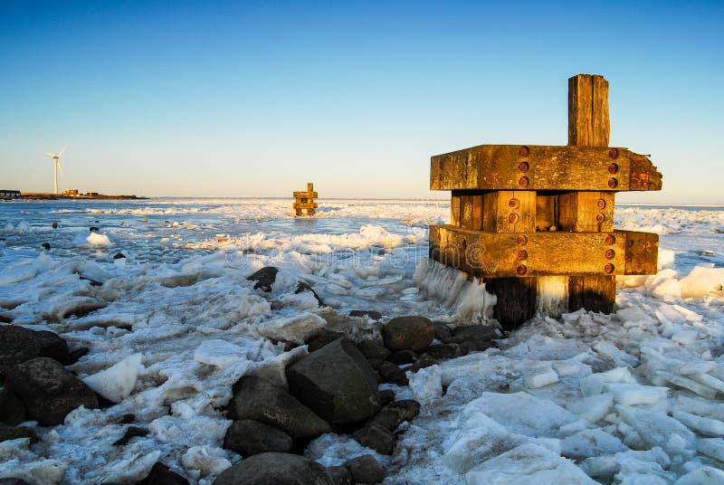 Zima Marznący morze zdjęcie royalty free