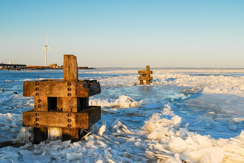 Zima Marznący morze zdjęcia royalty free
