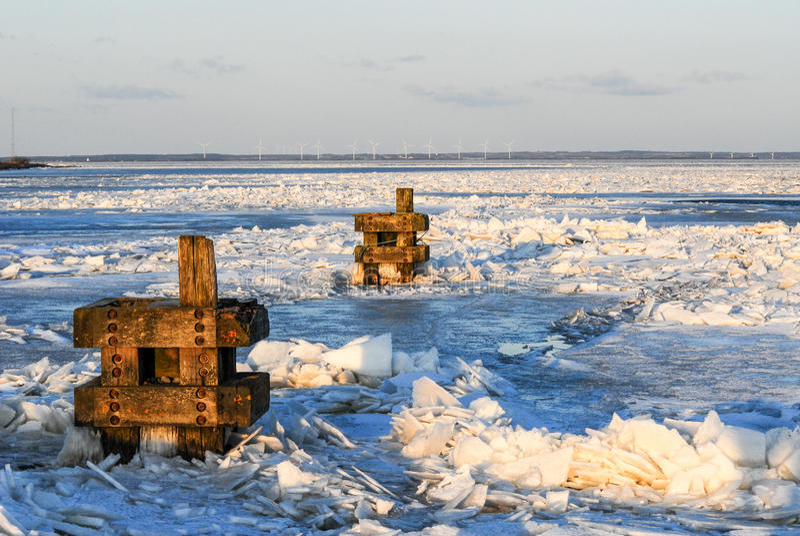 Zima Marznący morze obrazy stock