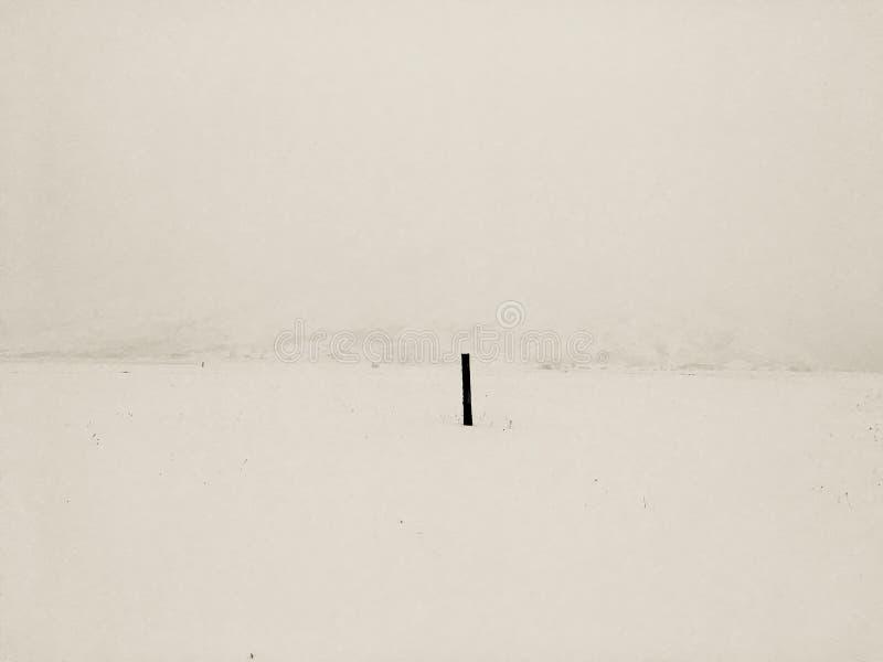 Zima medytacyjny krajobraz zdjęcie royalty free