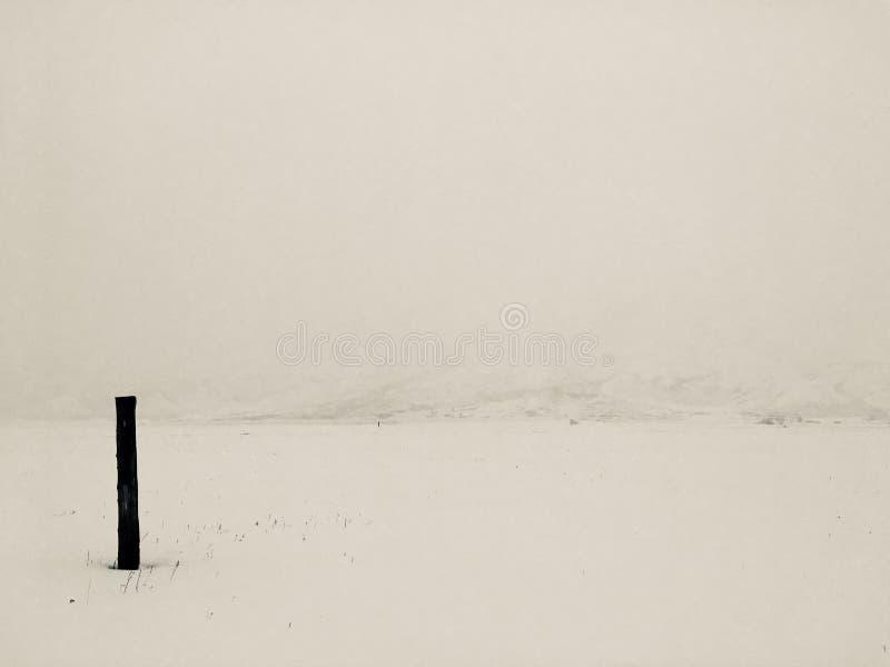 Zima medytacyjny krajobraz fotografia royalty free