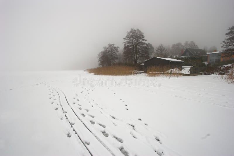 zima mgłowa fotografia royalty free