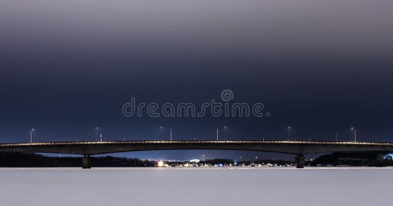 Zima most zdjęcia royalty free