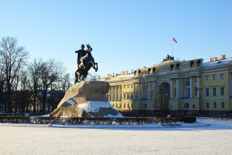 Zima mroźny ranek na Senackim kwadracie zdjęcie royalty free