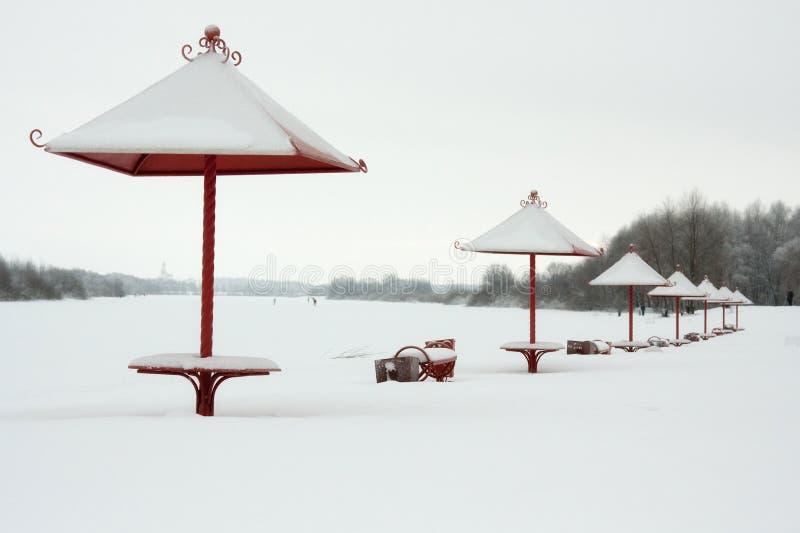 Zima na plaży obraz royalty free