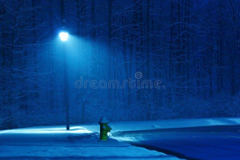 zima noc zdjęcia stock