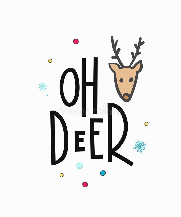 Zima nowego roku literowania Bożenarodzeniowa typografia royalty ilustracja