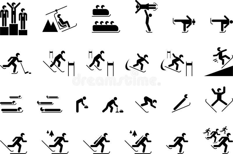Zima Olimpijscy sporty ilustracja wektor