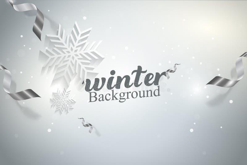 Zima płatków śniegu tła pojęcia Wektorowy ilustracyjny projekt ilustracji