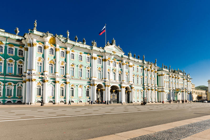 Zima pałac, eremu muzeum w świętym Petersburg, zdjęcia royalty free