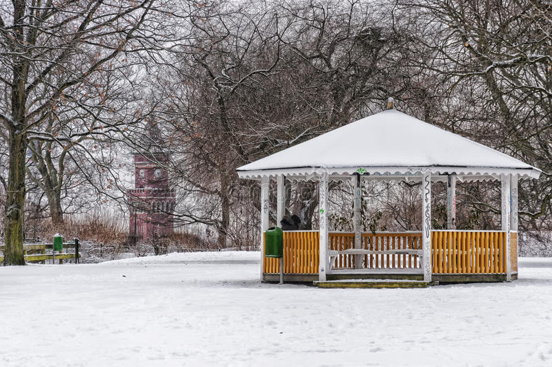 Zima Parklife obrazy stock