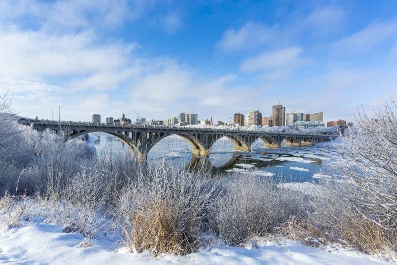 Zima pejzaż miejski obrazy stock