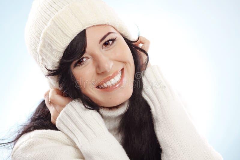 zima piękna kobieta zdjęcie royalty free
