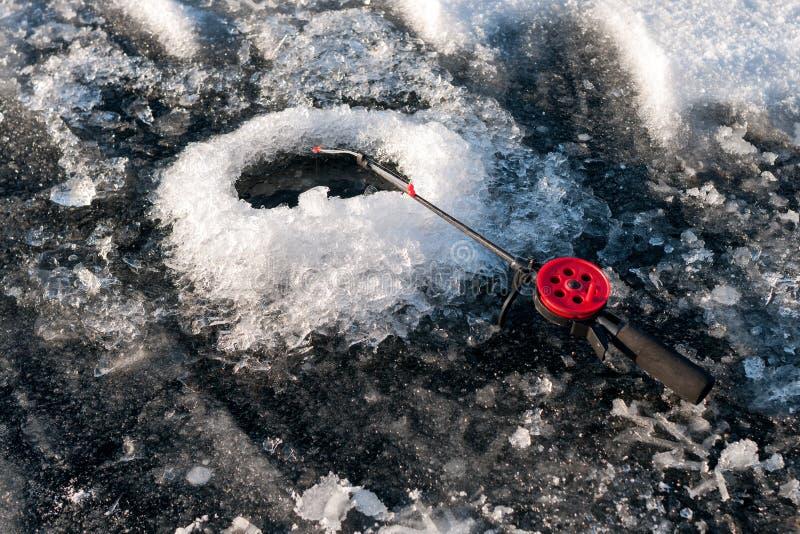 Zima połów zdjęcie stock