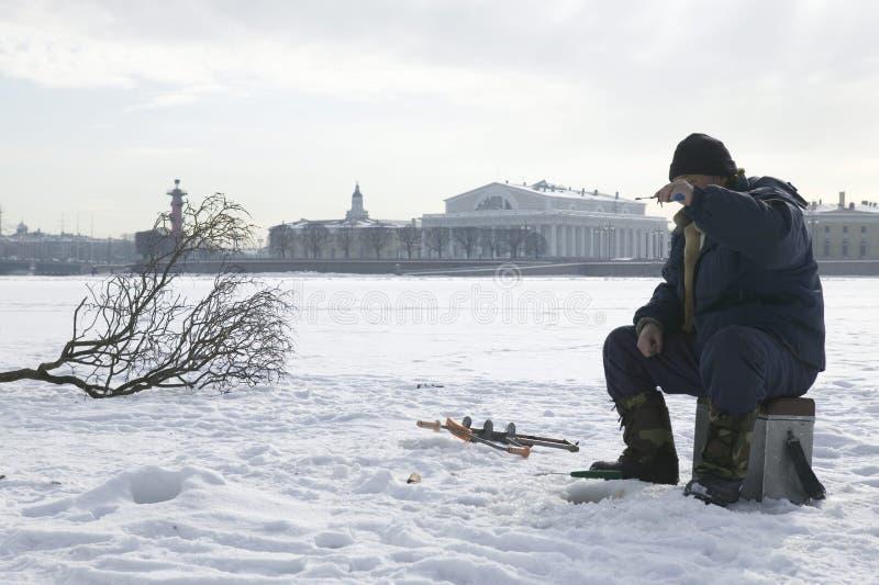 zima połowów obrazy royalty free