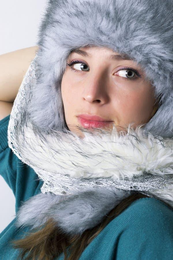 Zima portret zdjęcia stock