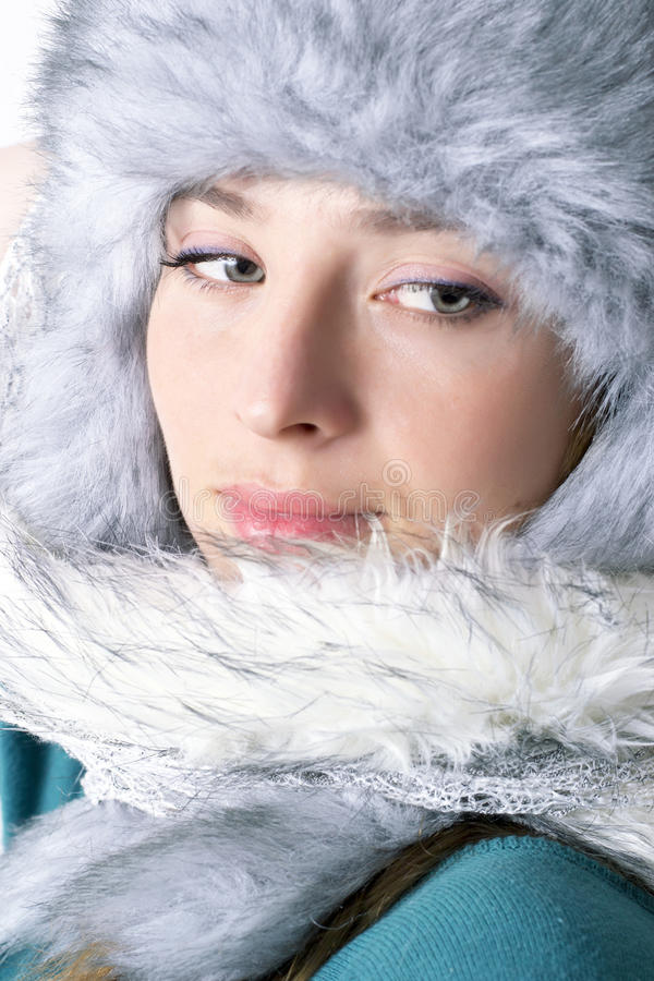 Zima portret obrazy stock