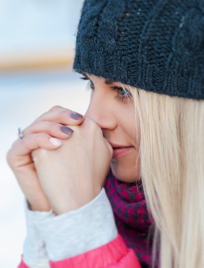 Zima portret obraz stock