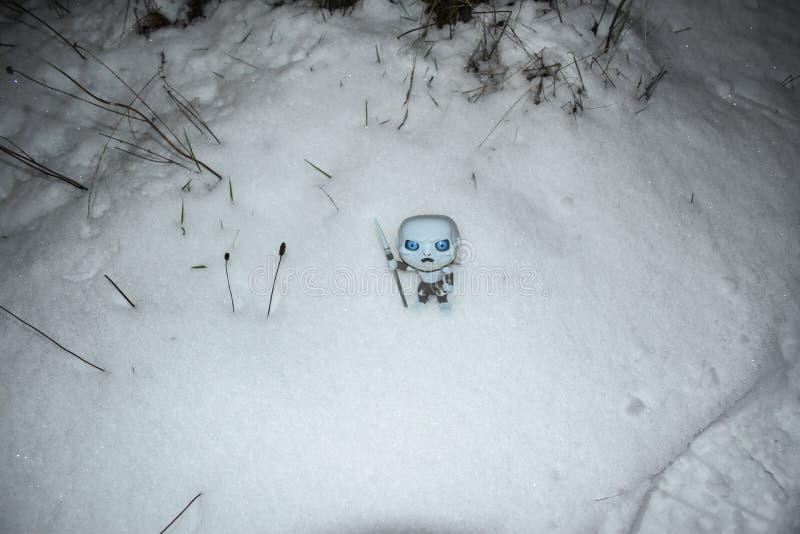 Zima przychodzi, gra tronu finał, sezon 8 obrazy royalty free