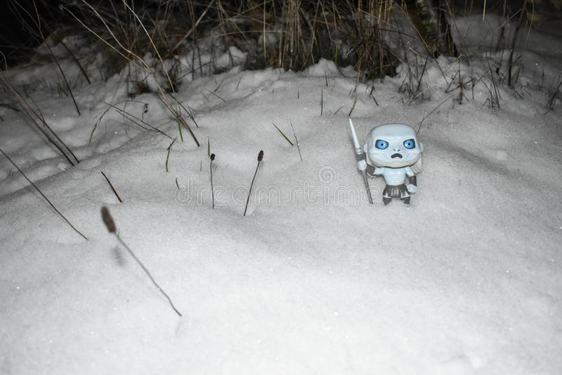 Zima przychodzi, gra trony, sezon 8 zdjęcie royalty free