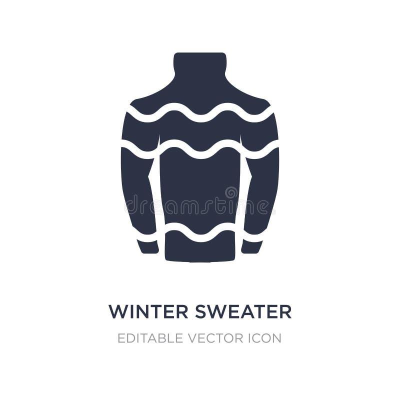 zima puloweru ikona na białym tle Prosta element ilustracja od Bożenarodzeniowego pojęcia ilustracja wektor