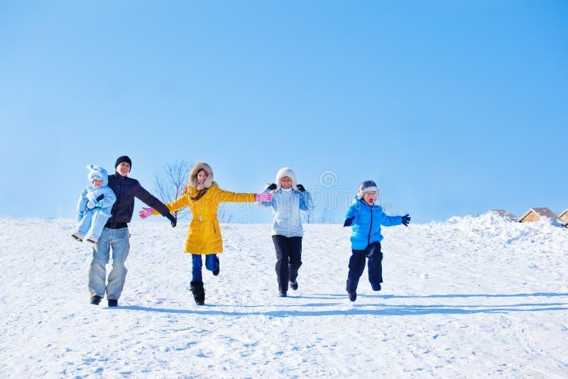 Zima rodzina obrazy stock