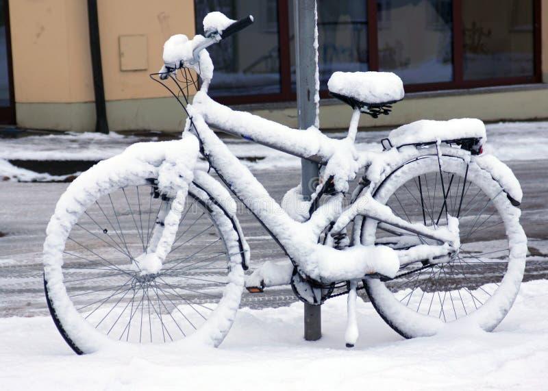 Zima rower obrazy stock