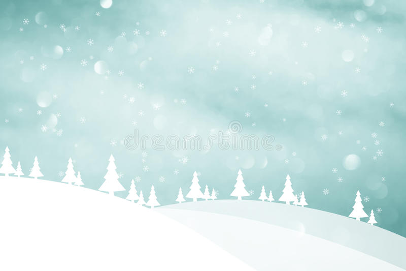 Zima sezonu krajobraz z drzewa tłem ilustracji