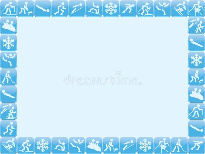 Zima sportów ikon rama ilustracji