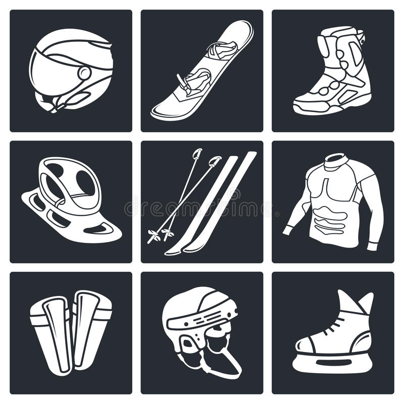 Download Zima Sportów Ikony Kolekcja Ilustracji - Ilustracja złożonej z hokej, sylwetka: 42525551