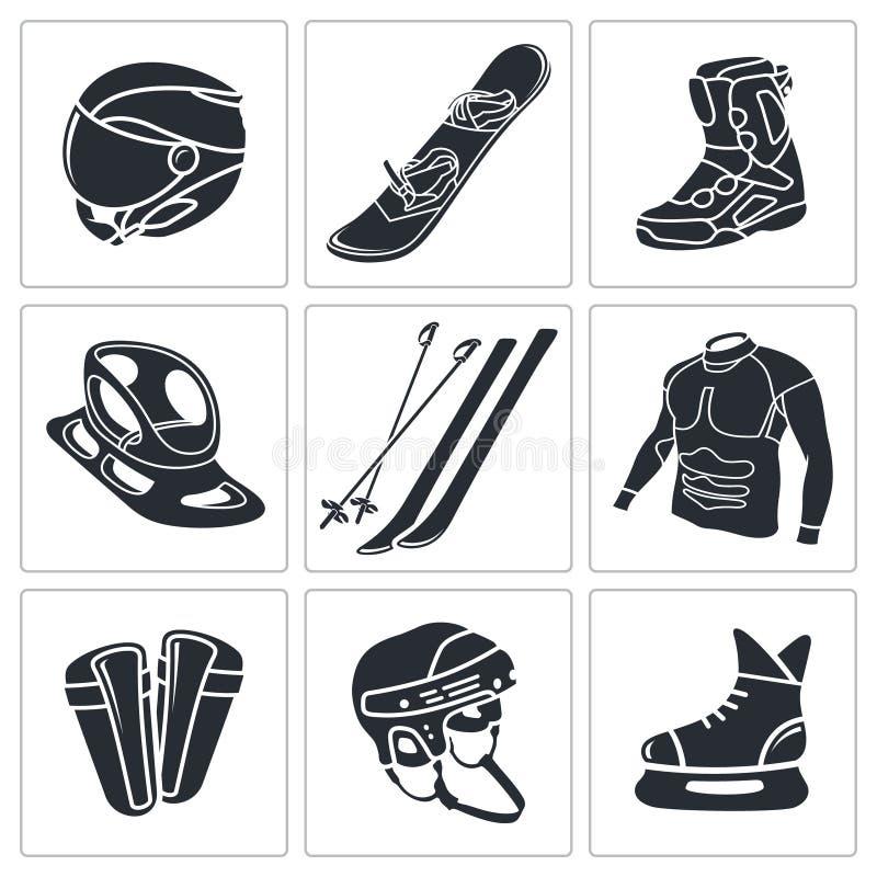 Download Zima sportów ikony set ilustracji. Ilustracja złożonej z aktywność - 42525547