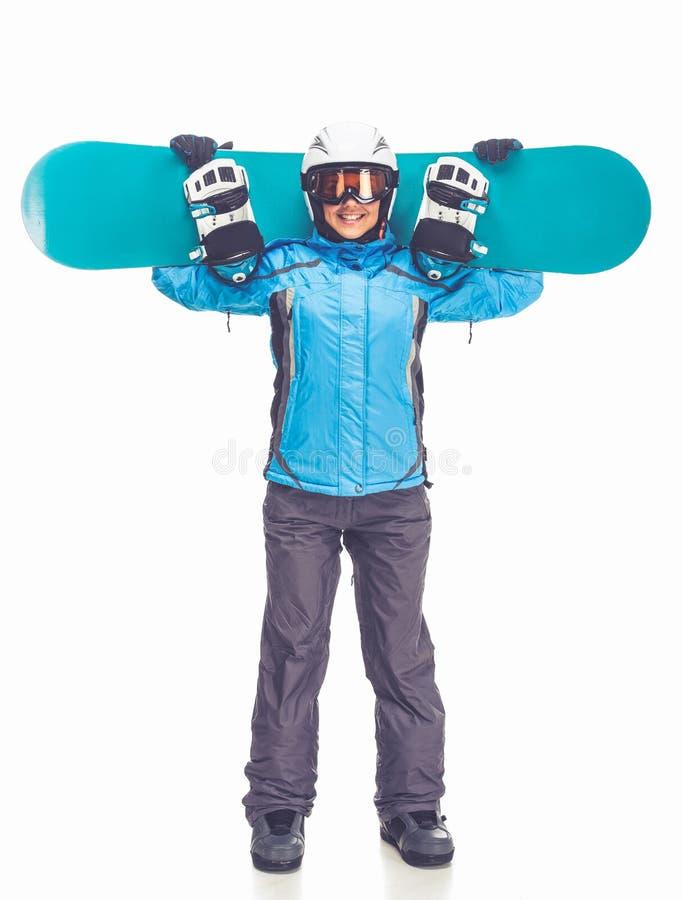 Zima sport, dziewczyna zdjęcia royalty free